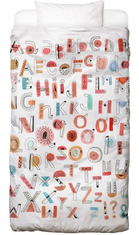 Alphabet Soup -Kinderbettwäsche