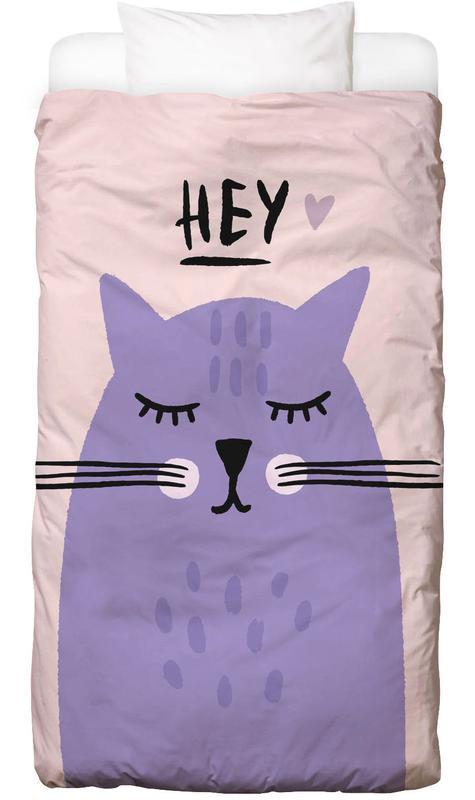 Katzen, Kinderzimmer & Kunst für Kinder, Feline Cute Bettwäsche