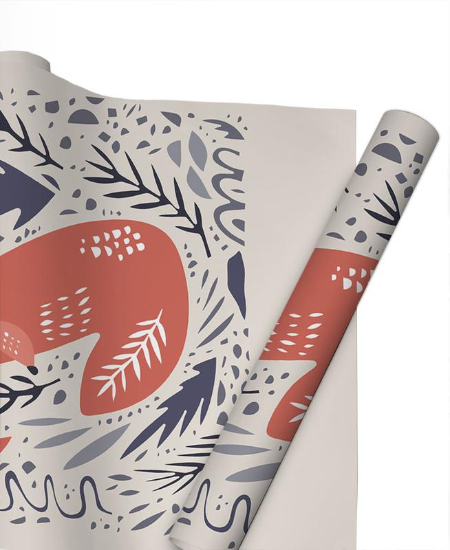 Hibernating Fox Gift Wrap