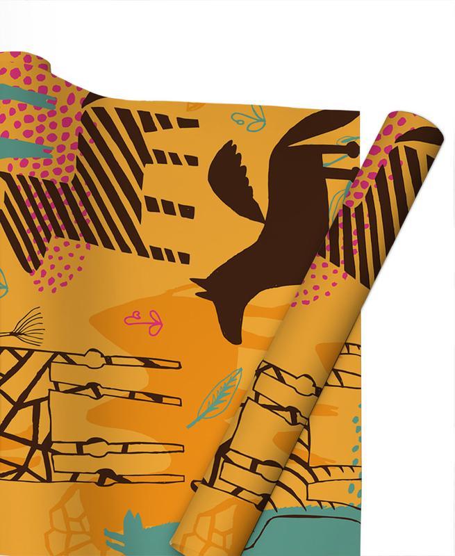 Art pour enfants, Animaux de safari, Sunshine Safari papier cadeau