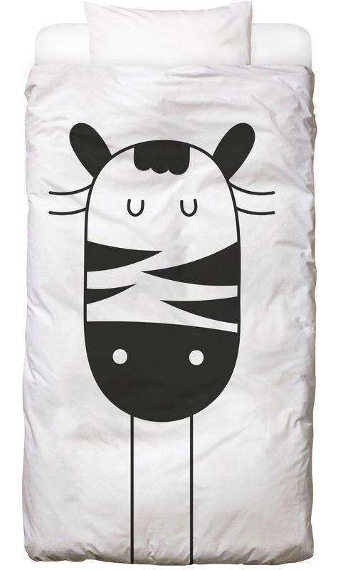 Zèbres, Art pour enfants, Sleepy Zebra Linge de lit