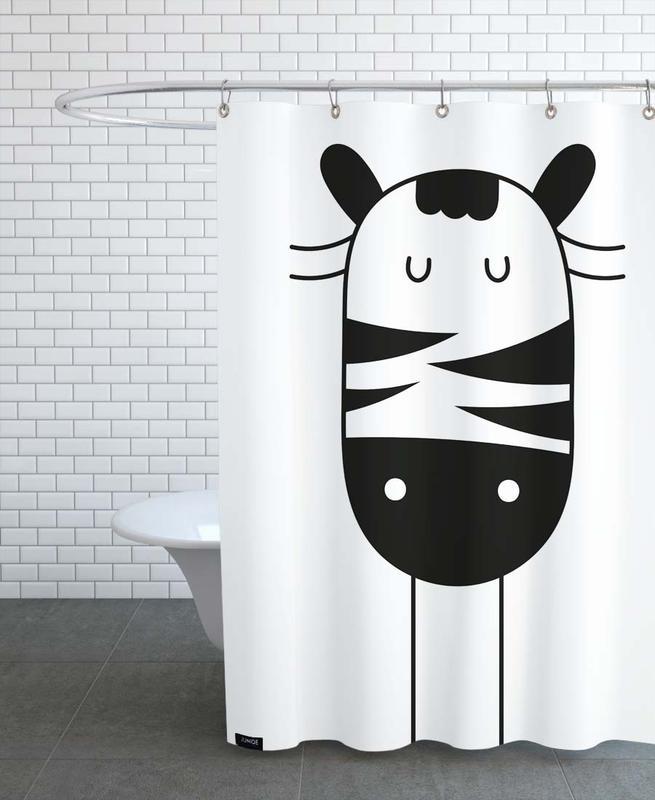 Zebras, Kinderzimmer & Kunst für Kinder, Sleepy Zebra -Duschvorhang