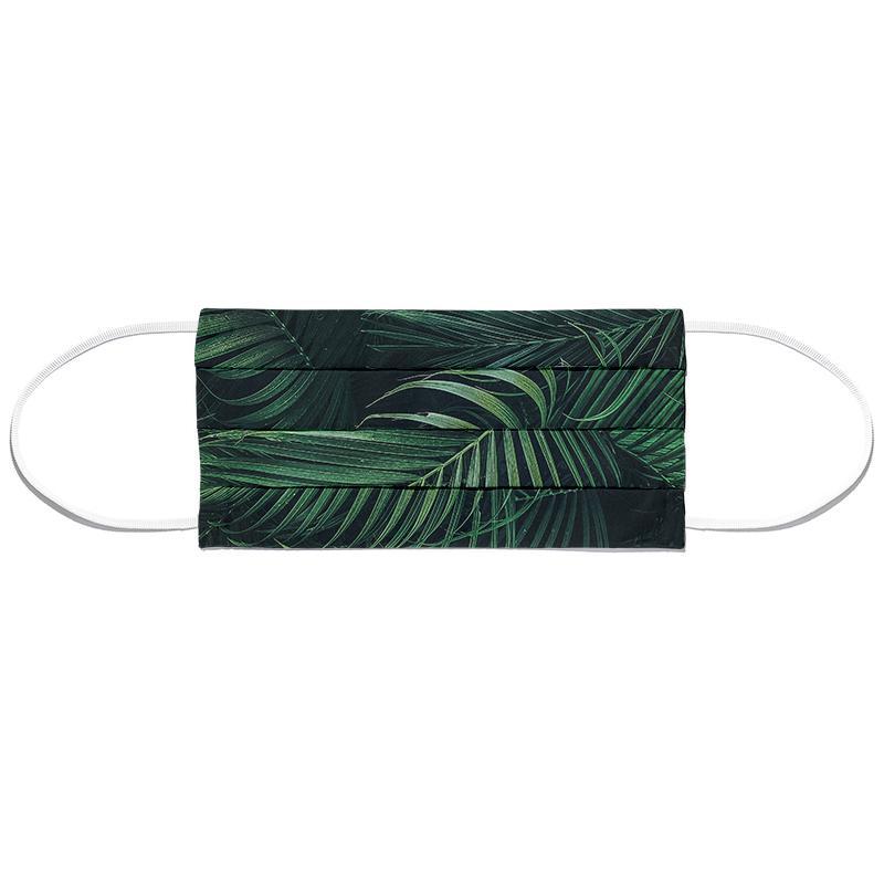 Feathered Palm Masque barrière en tissu
