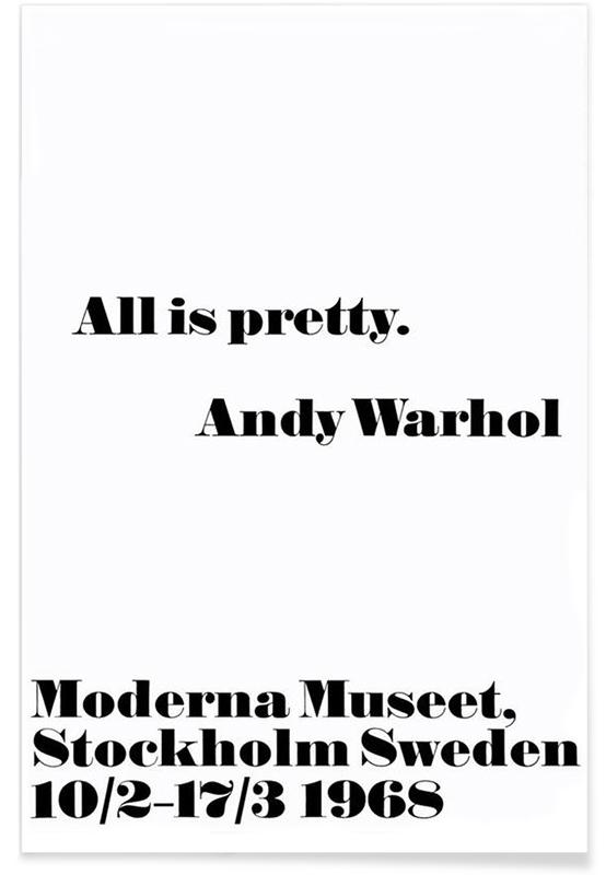 Andy Warhol - All is pretty póster