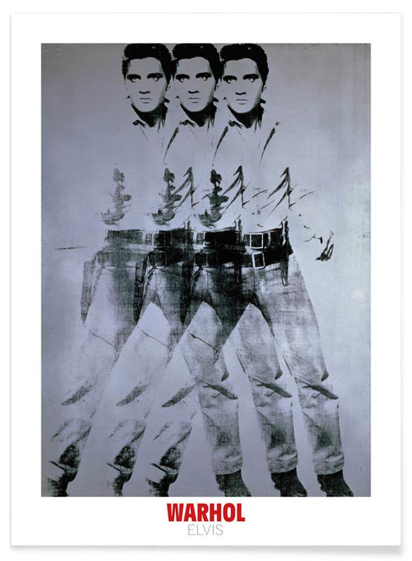 Andy Warhol - Triple Elvis, 1963 póster