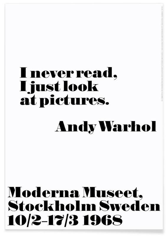 Andy Warhol - I never read Plakat