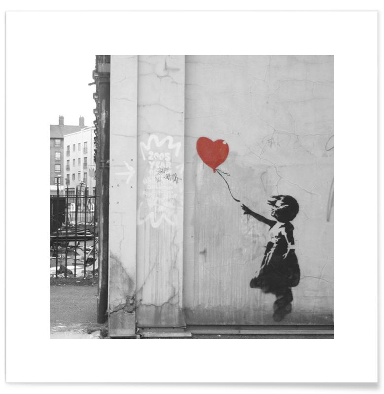 Banksy Girl with Red Balloon Poster