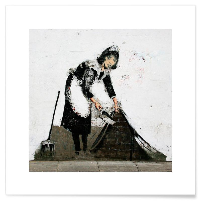 Banksy Cleaning Lady Plakat