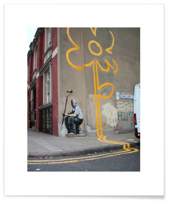 Banksy Flower Plakat
