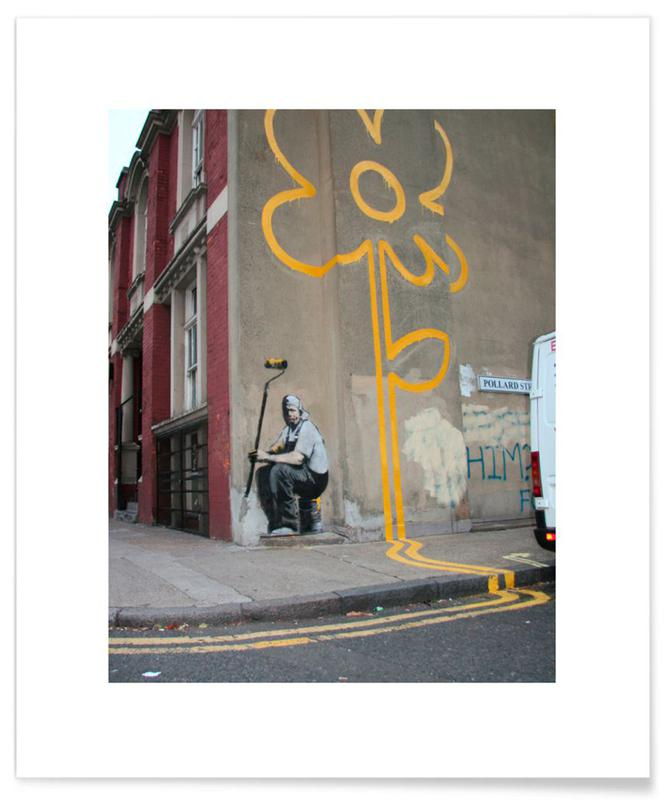 Banksy Flower póster