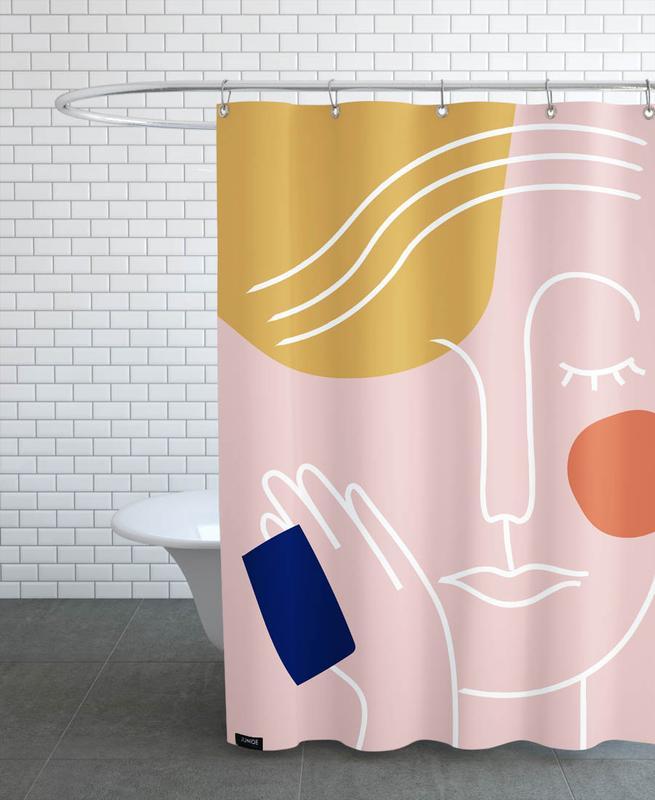 Porträts, Rest -Duschvorhang