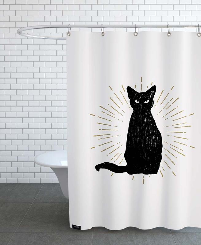Schwarz & Weiß, Familiar -Duschvorhang