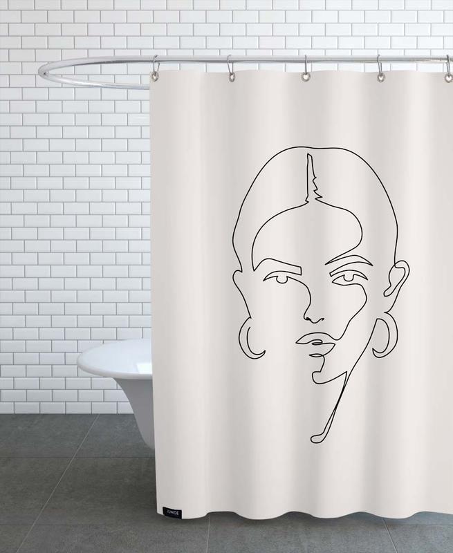 Schwarz & Weiß, Femme II -Duschvorhang