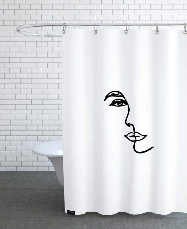 Porträts, Schwarz & Weiß, Mirrored -Duschvorhang