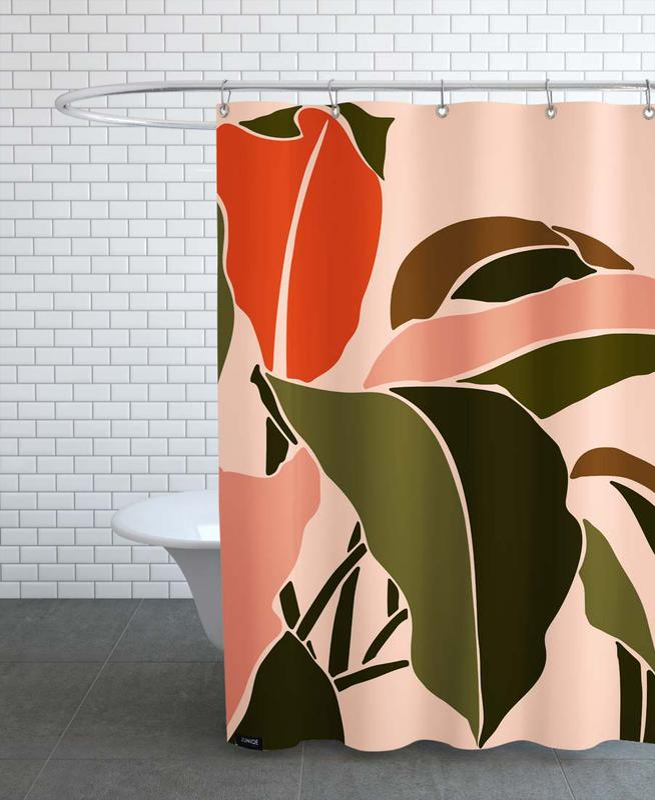 Plant -Duschvorhang