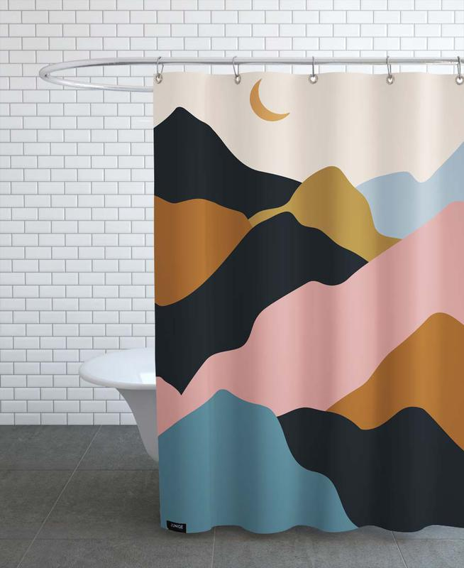 Mountains, Abstract Landscapes, Pastel Climb Shower Curtain