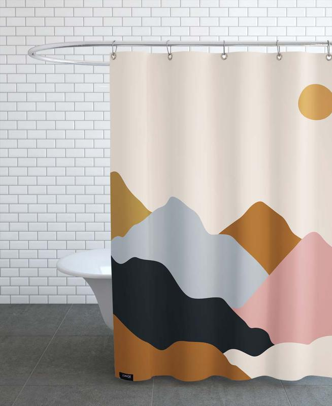 Mountains, Abstract Landscapes, Valley Haze Shower Curtain