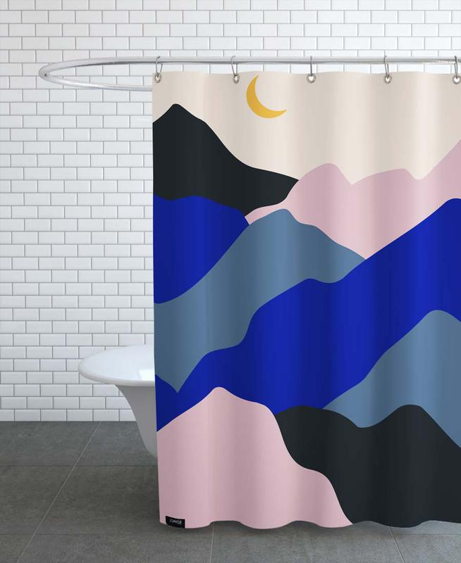 Mountains, Moonrise Shower Curtain