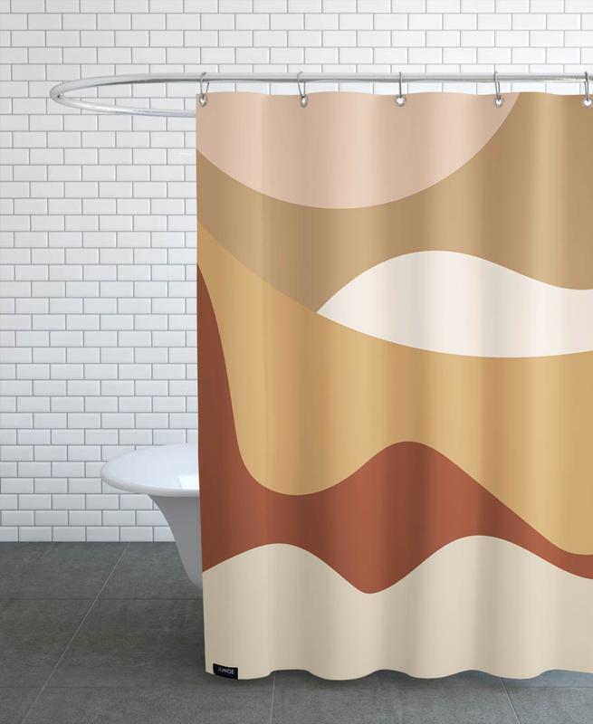 Golden Waves -Duschvorhang