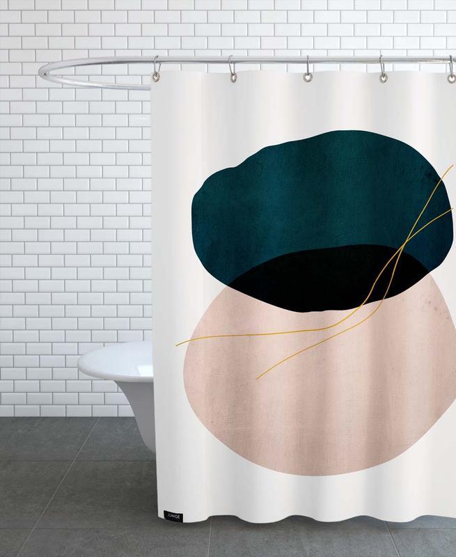 , Crossed Shower Curtain
