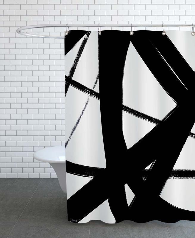 Schwarz & Weiß, Layers -Duschvorhang