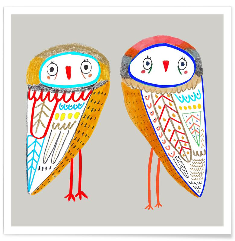 2 Owls Poster