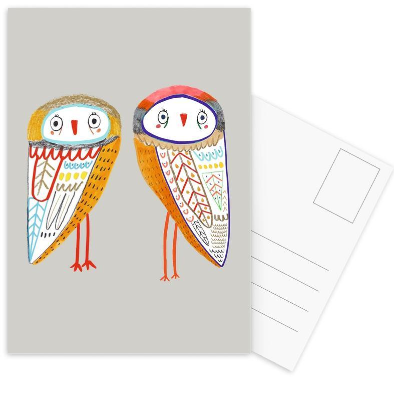 Art pour enfants, Chouettes, 2 Owls cartes postales