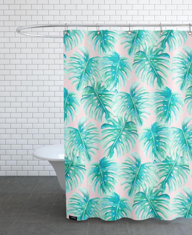 Paradise Palm Blush rideau de douche