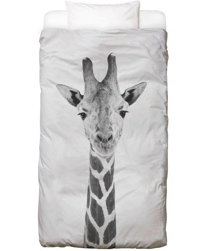 Kinderzimmer & Kunst für Kinder, Giraffen, Schwarz & Weiß, Giraffe Classic Bettwäsche
