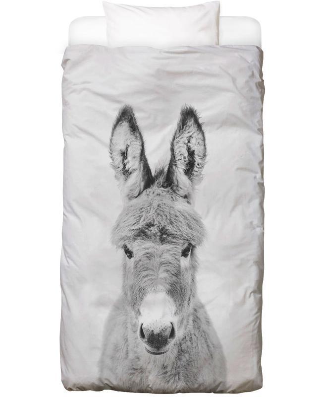 Schwarz & Weiß, Kinderzimmer & Kunst für Kinder, Donkey Classic Bettwäsche