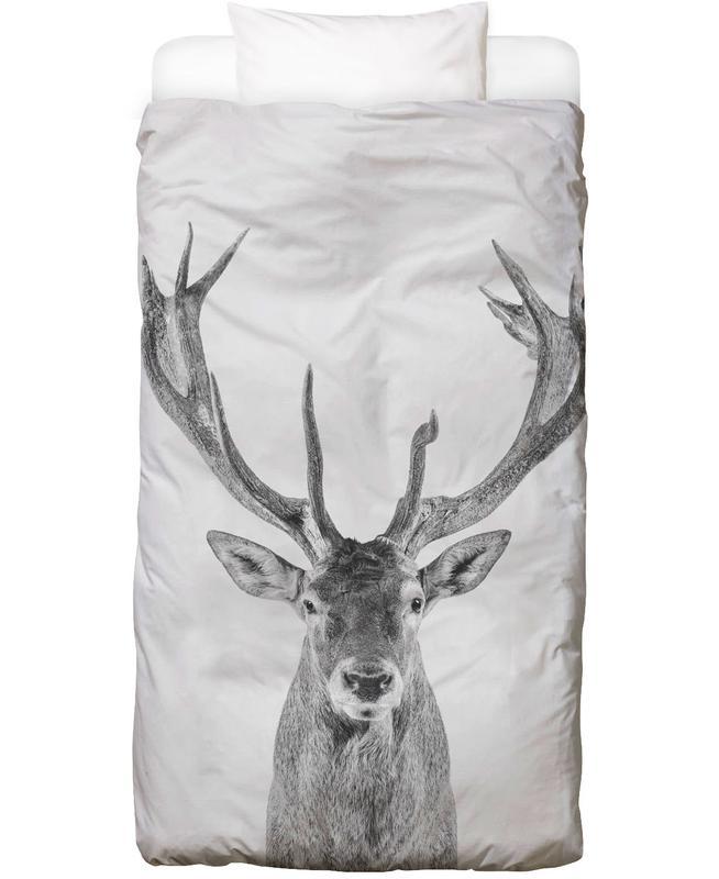 Black & White, Deer, Christmas, Nursery & Art for Kids, Reindeer Classic Bed Linen