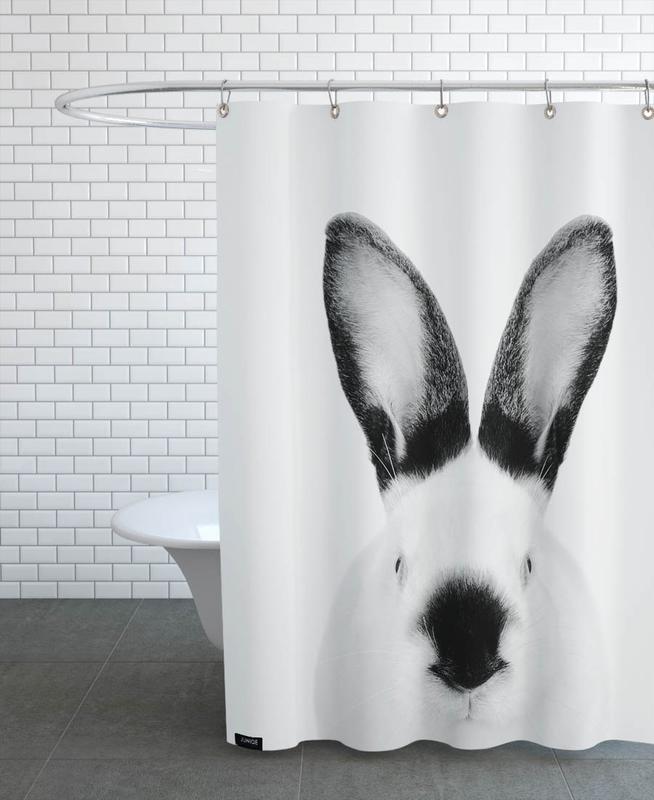 Noir & blanc, Art pour enfants, Lapins, Rabbit Classic rideau de douche