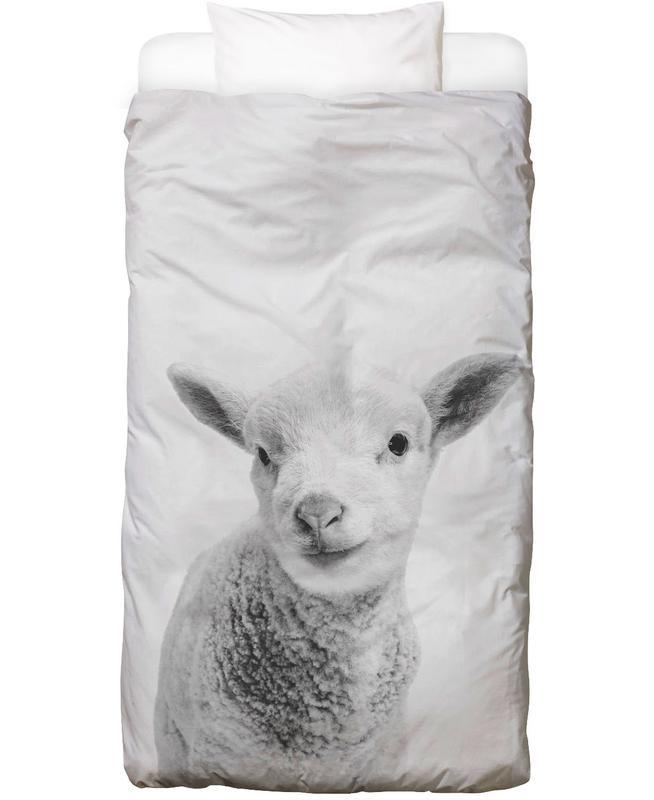 Schafe, Kinderzimmer & Kunst für Kinder, Schwarz & Weiß, Little Lamb Classic Bettwäsche