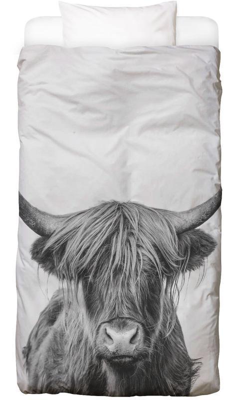 Vaches Highland, Vaches, Art pour enfants, Noir & blanc, Highland Cow Classic housse de couette enfant