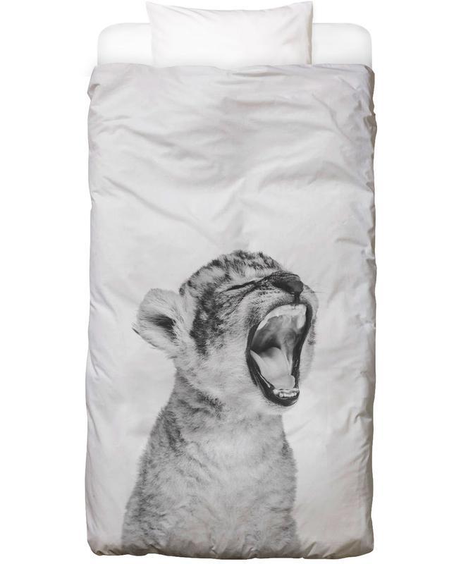 Art pour enfants, Léopards, Noir & blanc, Sleepy Leopard Classic Linge de lit