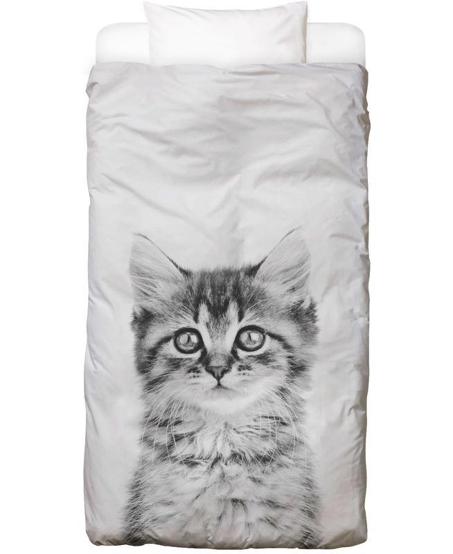 Kinderzimmer & Kunst für Kinder, Schwarz & Weiß, Katzen, Kitten Classic Bettwäsche