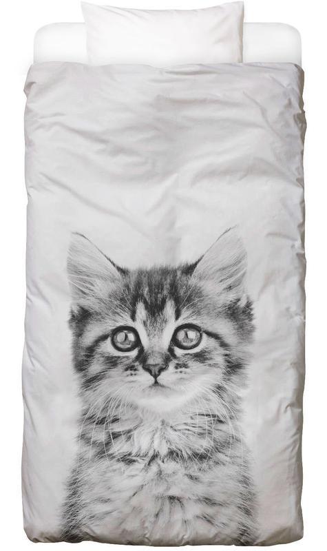 Chats, Art pour enfants, Noir & blanc, Kitten Classic housse de couette enfant