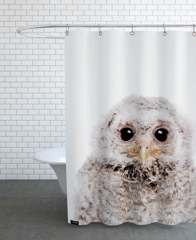 Noël, Art pour enfants, Chouettes, Owl III rideau de douche