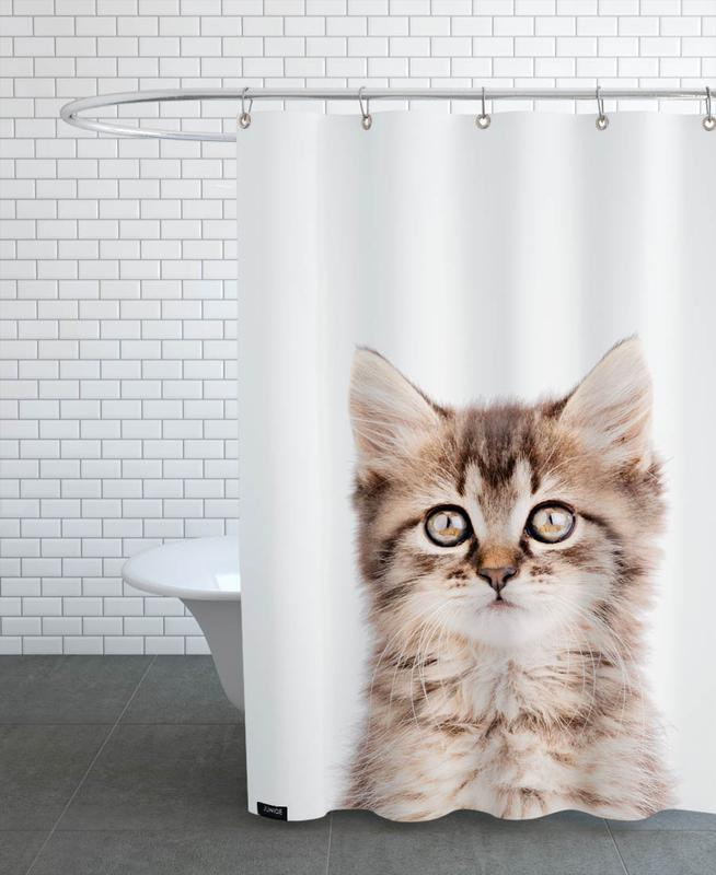 Katzen, Kinderzimmer & Kunst für Kinder, Kitten II -Duschvorhang