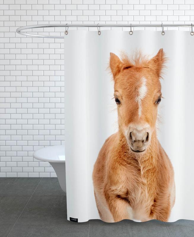 Chevaux, Art pour enfants, Foal rideau de douche