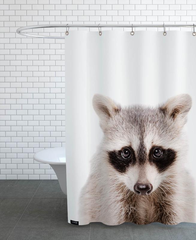 Kinderzimmer & Kunst für Kinder, Raccoon -Duschvorhang