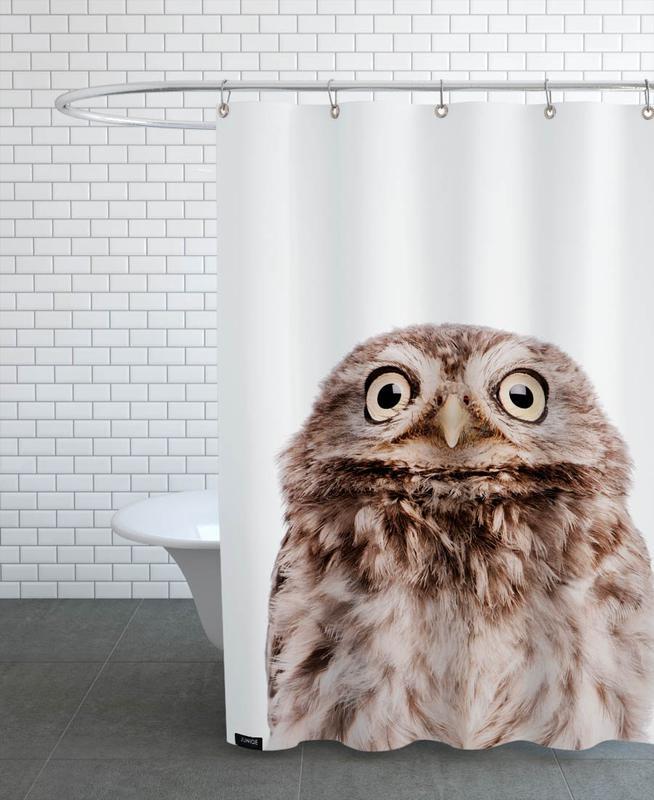 Kinderzimmer & Kunst für Kinder, Eulen, Weihnachten, Owl -Duschvorhang