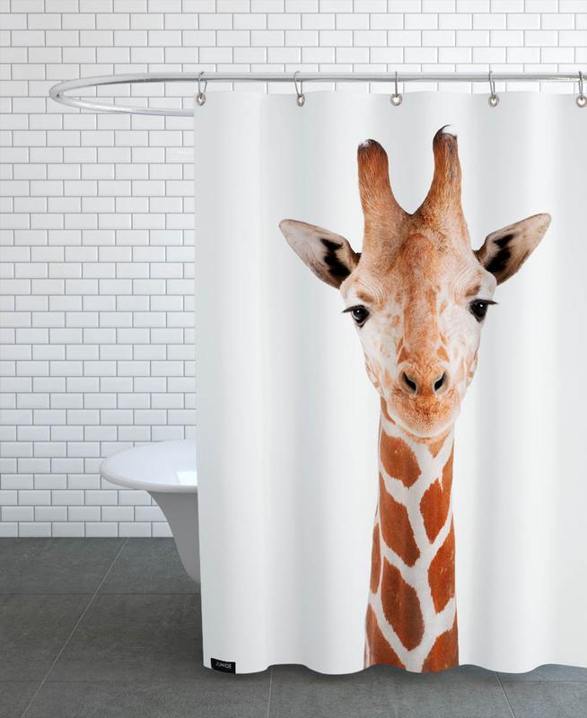 Kinderzimmer & Kunst für Kinder, Safari-Tiere, Giraffe -Duschvorhang