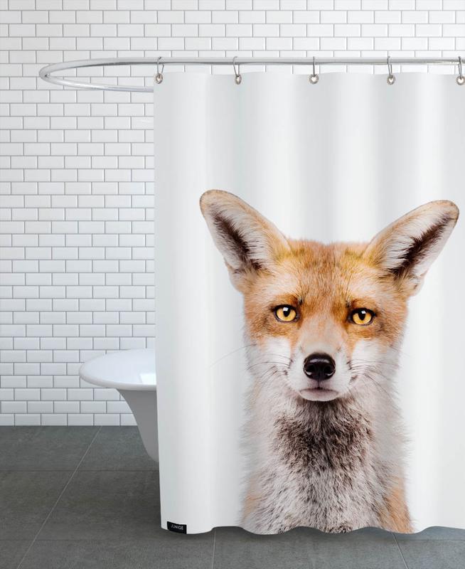 Füchse, Kinderzimmer & Kunst für Kinder, Fox -Duschvorhang