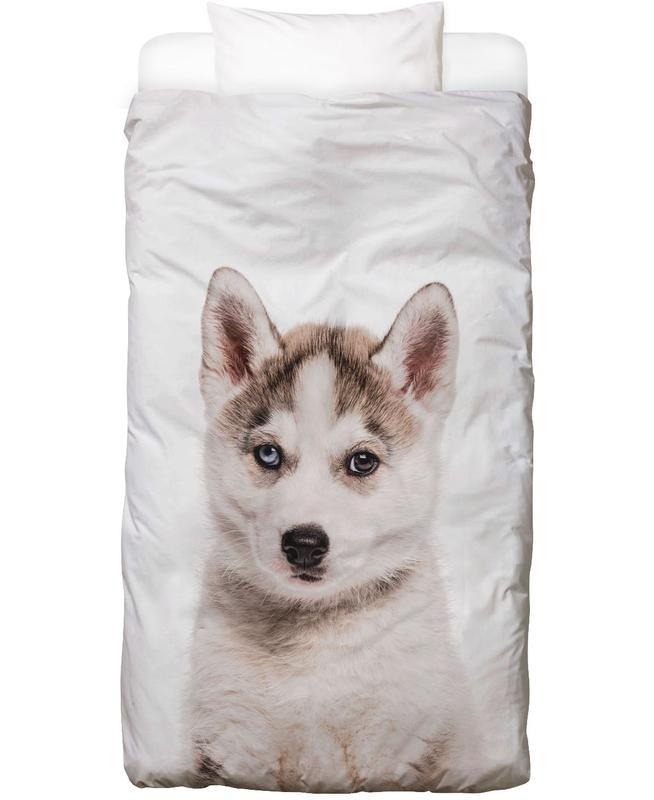 Hunde, Kinderzimmer & Kunst für Kinder, Husky Bettwäsche