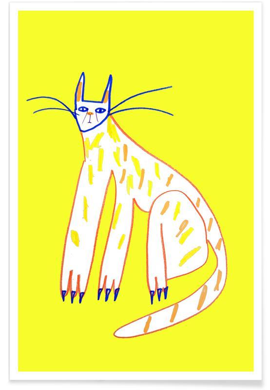 Katzen, Kinderzimmer & Kunst für Kinder, Cat -Poster