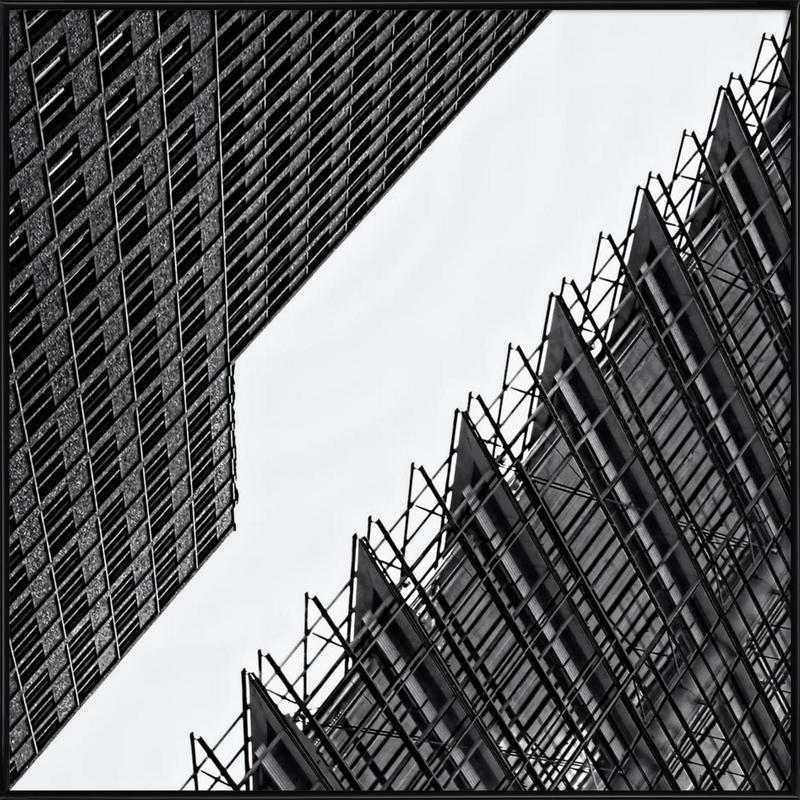 Collisionism -Bild mit Kunststoffrahmen
