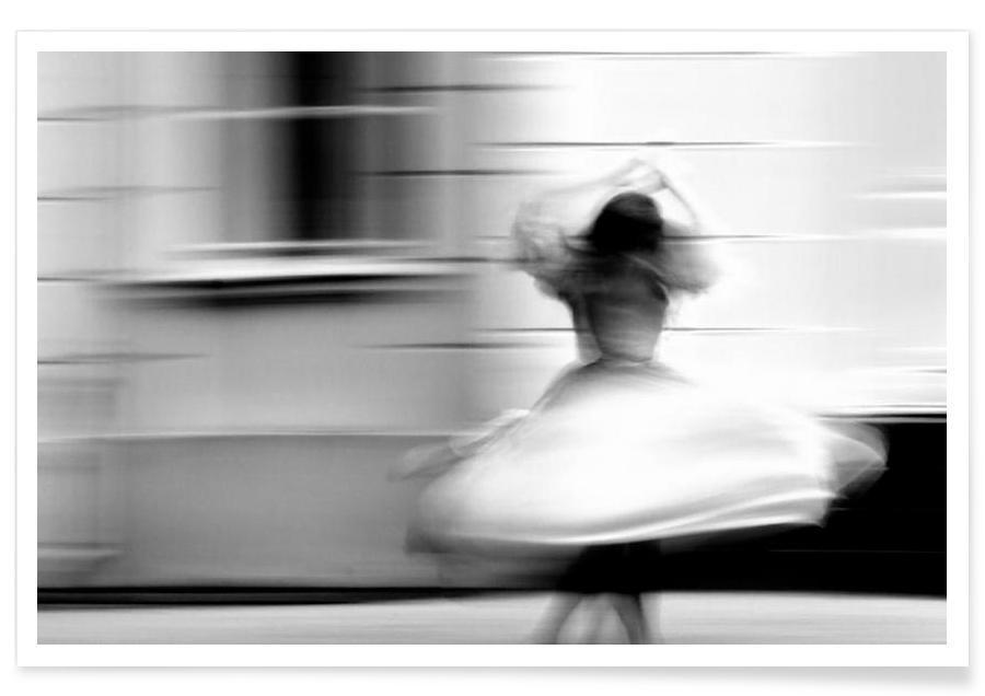 Noir & blanc, Danse, Monochrome rotation affiche