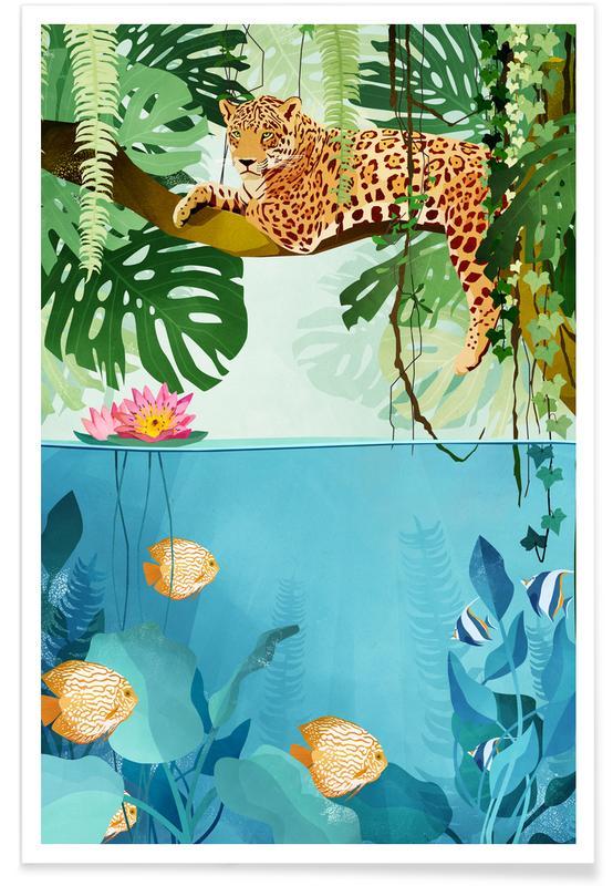 Art pour enfants, Tigres, Welcome to the Jungle affiche