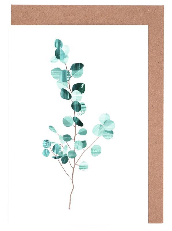 Eucalyptus -Grußkarten-Set